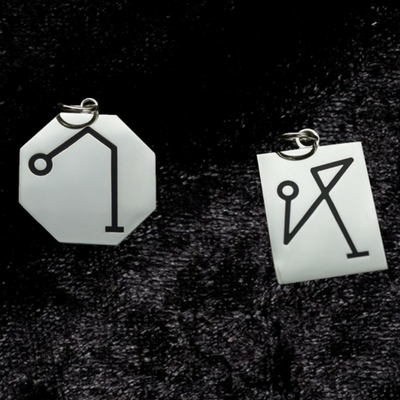 Angel Sigil pendants Archangel Raphael and Archangel Michael Edel O'Hanlon Longford Ireland